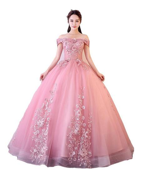 Vestido Quinceañera Barato Hermoso Economico Rosa