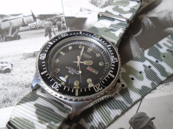 Citizen Diver Militar 51-2273 150 M 8200 Garantia Nf