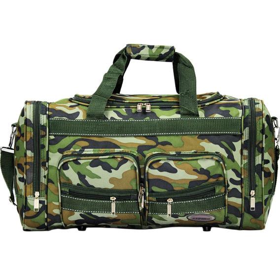 Mala Sacola Bolsa De Viagem Camuflada Militar Pequena Ampla