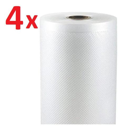 Imagen 1 de 6 de Combo 4x Rollos 20cmx15m Bolsas Gofradas Envasadora Al Vacio