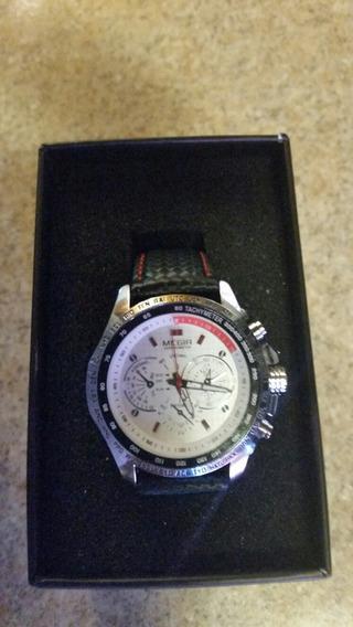 Reloj Megir Extensible De Cuero