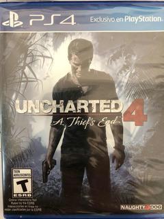 Uncharted 4 Ps4 Juego Nuevo, Sellado