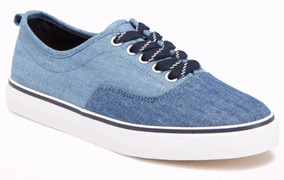 Tenis Old Navy Para Niño Chambray Lace-up Sneakers 437154
