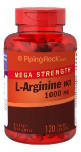 Arginina 1000mg 120cps Importada Usa Piping Rock