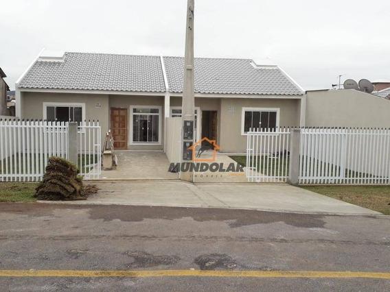 Casa Com 2 Dormitórios À Venda, 60 M² Por R$ 220.000,00 - Capela Velha - Araucária/pr - Ca1523