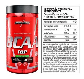 Bcaa Top Ultra Concentrado 120 Capsulas - Integral Medica