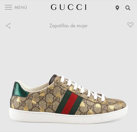 Tenis Gucci Ace Gg Supreme Abeja Piel Envío Gratis