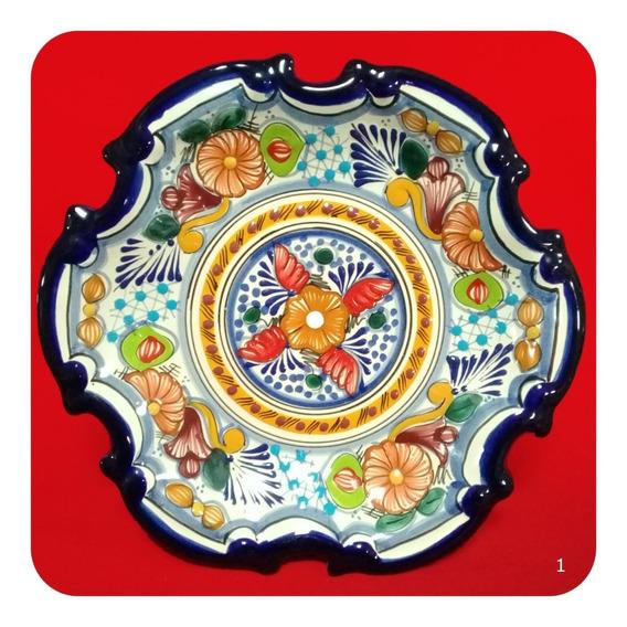Plato De Talavera Poblana Barroco Grande Color 32 Cm M1 Plt