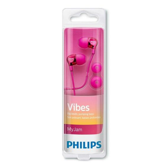 Fone De Ouvido Intra Auricular Philips She3700 Pink