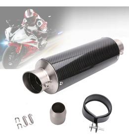 Ponteira Esportiva Moto Gp Racing Carbono 34cm - Promoção