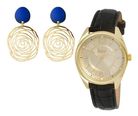 Kit Relógio Dumont Lily Feminino Du2035lpg/k2d