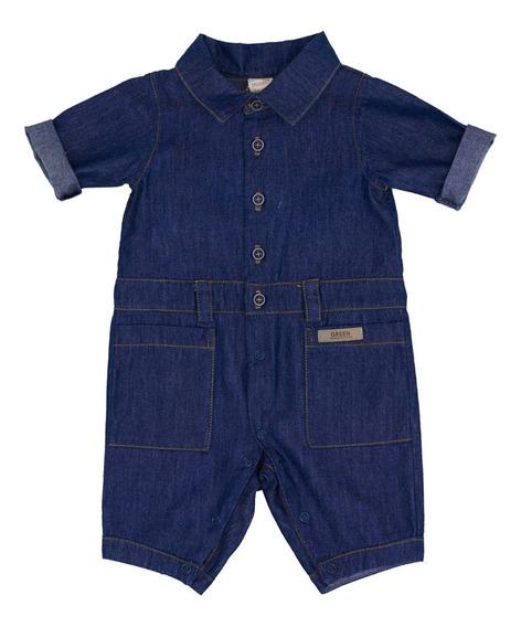 Macacão Jeans - Recém Nascido