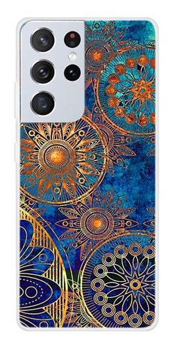 Protector Samsung Galaxy S21 Ultra Diseño Mandalas Doradas