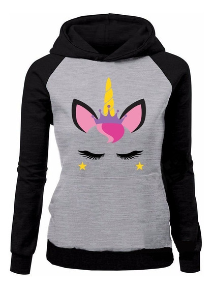 Moletom Unicornio Tumblr Blusa De Frio Feminina Cilios Star