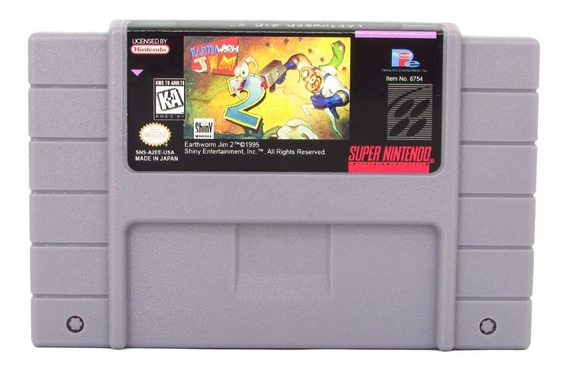 Earthworm Jim 2 Cartucho Super Nintendo Fita Snes Novo
