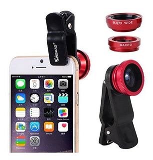 Kingmas 3 En 1 Universal Fish Eye - Macro Clip Camera Lens K