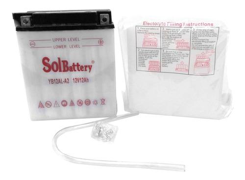 Batería Para Motos Yb12al-a2 12v 12ah Solbattery