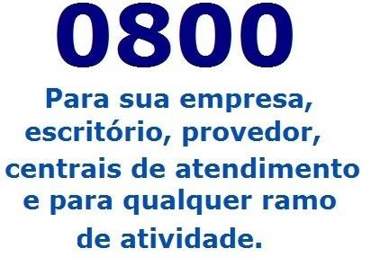 Linha Exclusiva 0800 - Sac, Empresas, Provedores, Operadoras