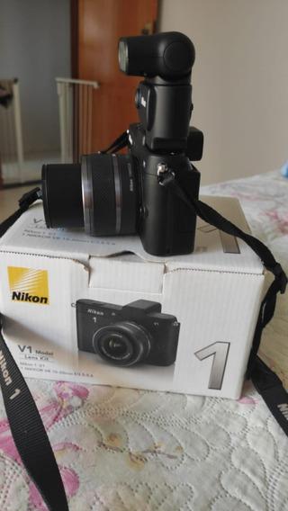 Câmera Nikon V1 10.1 Mp Com Lente 10-30 Mm Vr Full Hd 1080p