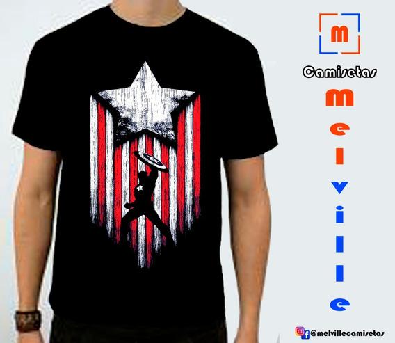 Camiseta Vingadores-avengers Endgame Capitão America-marvel