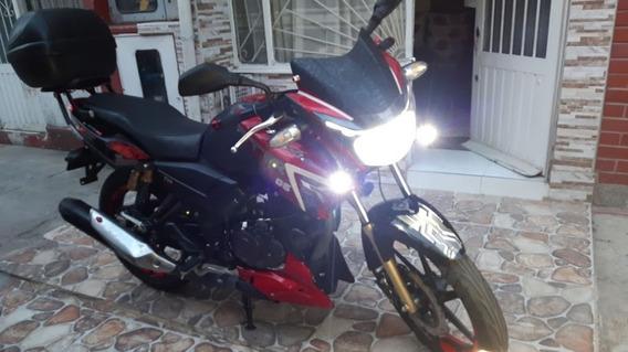 Apache Rtr 180 Rojo - Negro