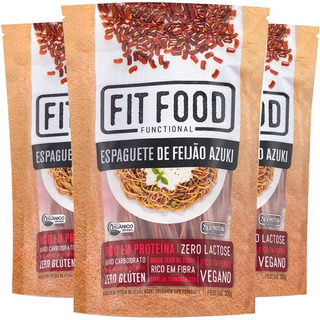 Kit 3 Espaguete De Feijao Azuki Orgânico Fit Food 200g