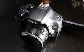 Kit Câmera Canon T3i E Lente 50mm 1.8