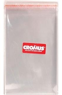 Saco Com Aba Adesivada Transparente 10x15cm 051716 Cromus