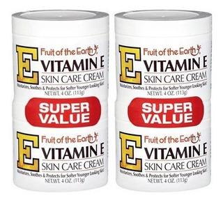 Crema Vitamina E Fruit Of The Earth Skin Care (4 Piezas)