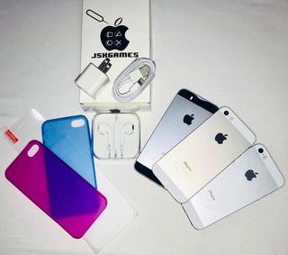 iPhone 5s 16gb (110) 4g Forro Vidrio Audifono 1 Mes Garantía