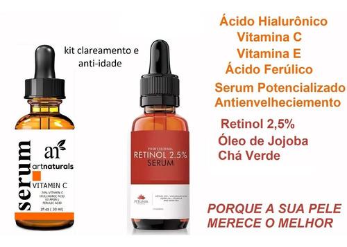 Serum Ac. Hialuronico  E Retinol Clareador Manchas