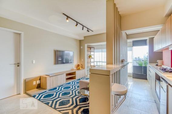 Apartamento No 24º Andar Mobiliado Com 1 Dormitório E 1 Garagem - Id: 892962317 - 262317