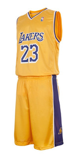 Conjunto Basket Lakers Lebron James Nba Camiseta Short