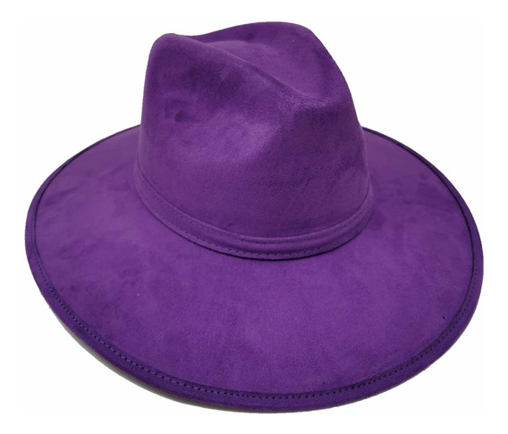 Sombrero Indiana Jones, Ala Ancha De Gamuza, Hipster, Fedora