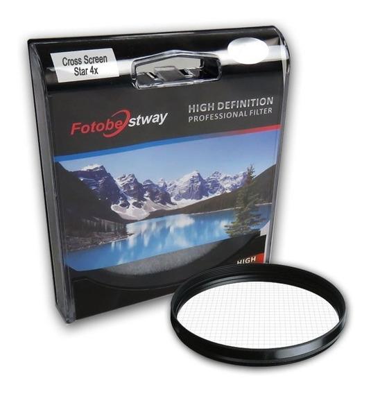 Filtro Para Câmera Cross Screen Star 4x - Fotobestway 67mm