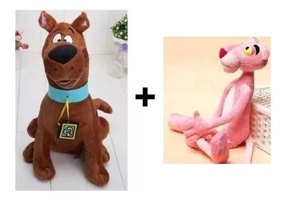 Pelúcia Scooby Doo Grande + Pantera Cor De Rosa 019-2