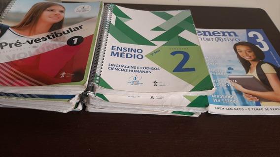 4 Livros Pré-vestibular + 4 Livros Conteúdo Ensino Médio