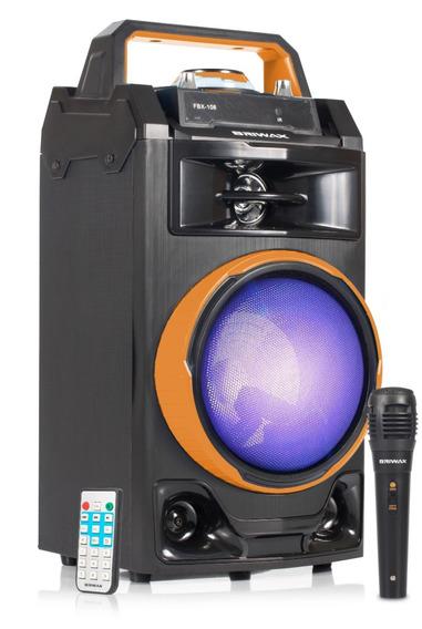 Caixa Som Bluetooth Amplificada 40w Rms Karaokê Mp3 Fm Sd