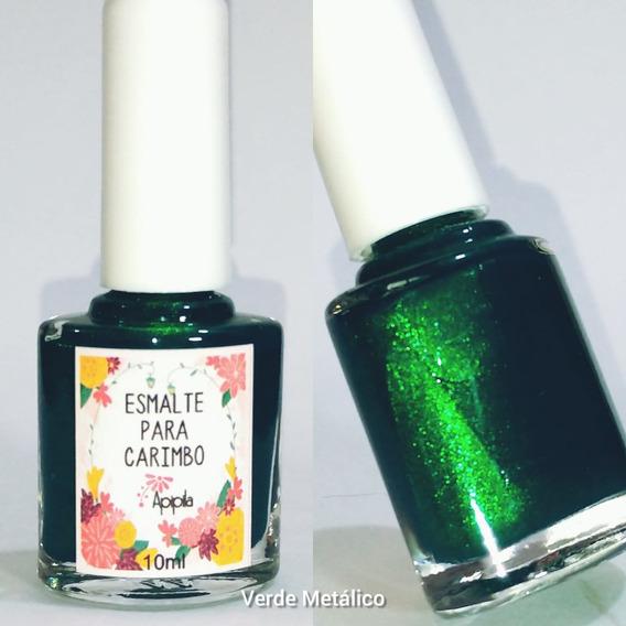Esmalte Carimbo Apipila - Verde Metalico