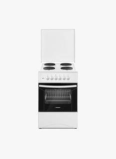 Cocina Electrica Cromwell Fcc50e Blanca Horno 50cm