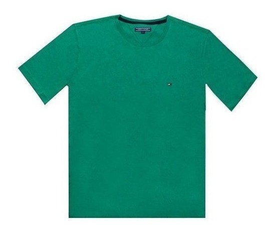 Remera Tommy Hilfiger Basica Ap May Cnkss Verde Medium