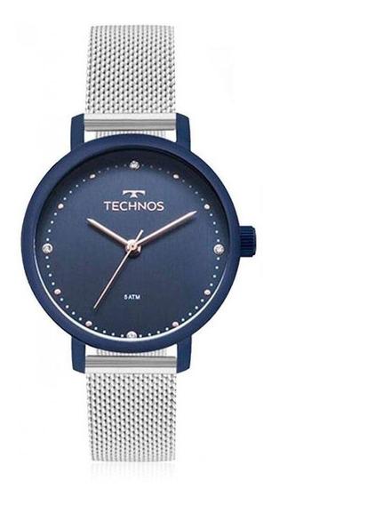 Relógio Feminino Technos Em Aço Inoxidável Prata 2035mmn/5a