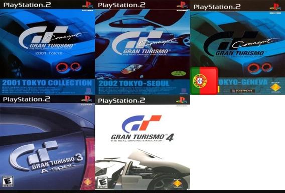 Coleção 5 Jogos Gran Turismo Ps2 Patch