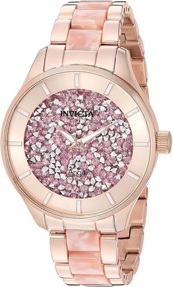 Relógio Invicta Angel 24663 Feminino Banhado Ouro Original