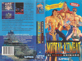 Mortal Kombat El Video Animado Vhs Español Latino