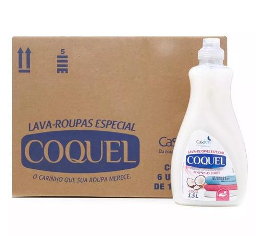 Kit C/3 Unidades - Lava Roupas Coquel Coco 1500ml