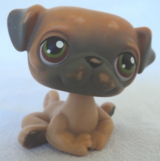Littlest Pet Shop Original Perrito Marron Con Gris Hasbro