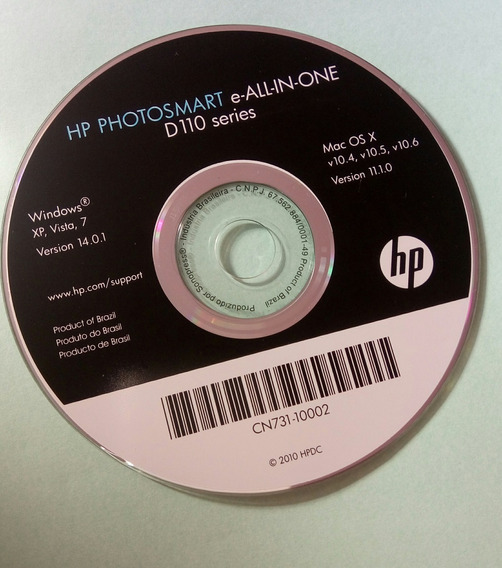 Dvd Hp Photosmart D 110 Serie Frete Gratis