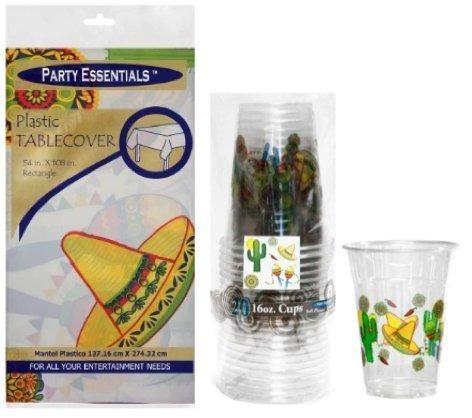 Party Essentials - Cubierta De Mesa De Plástico Impresa Para