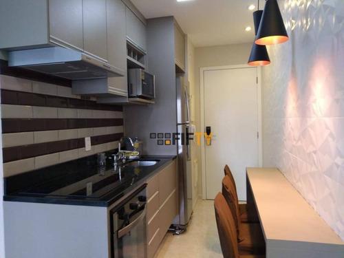 Apartamento Com 1 Dormitório Para Alugar, 37 M² Por R$ 3.000/mês - Brooklin - São Paulo/sp - Ap41908